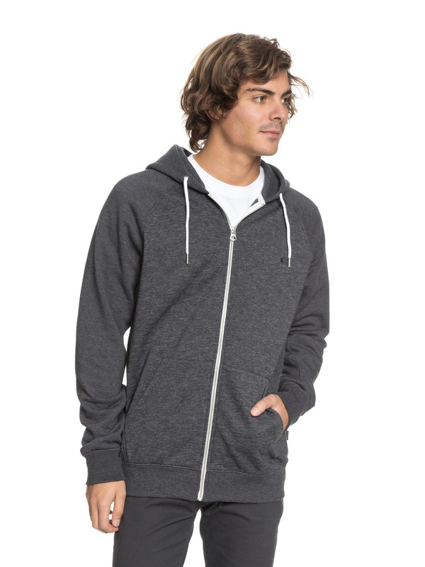0 Everyday - Sweat à capuche zippé Noir EQYFT03429 Quiksilver