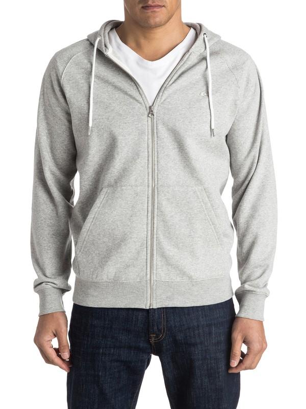 0 Everyday Zip-Up Hoodie Grey EQYFT03429 Quiksilver