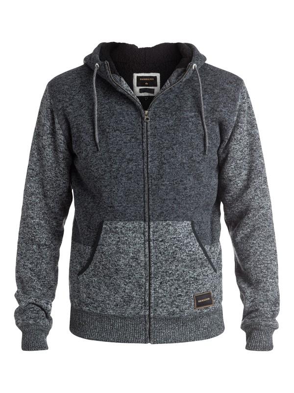 0 Keller Sherpa - Sweat à capuche zippé Noir EQYFT03437 Quiksilver