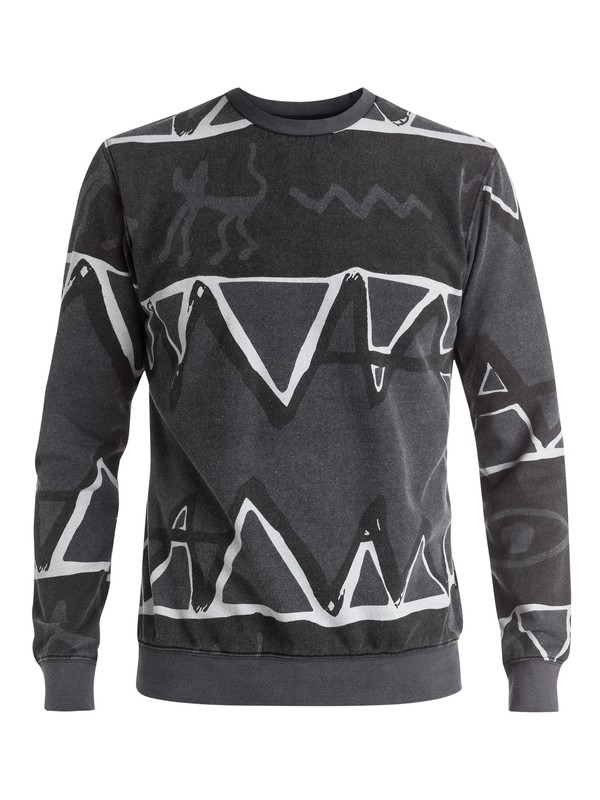 0 Ghetto - Sweat Noir EQYFT03442 Quiksilver