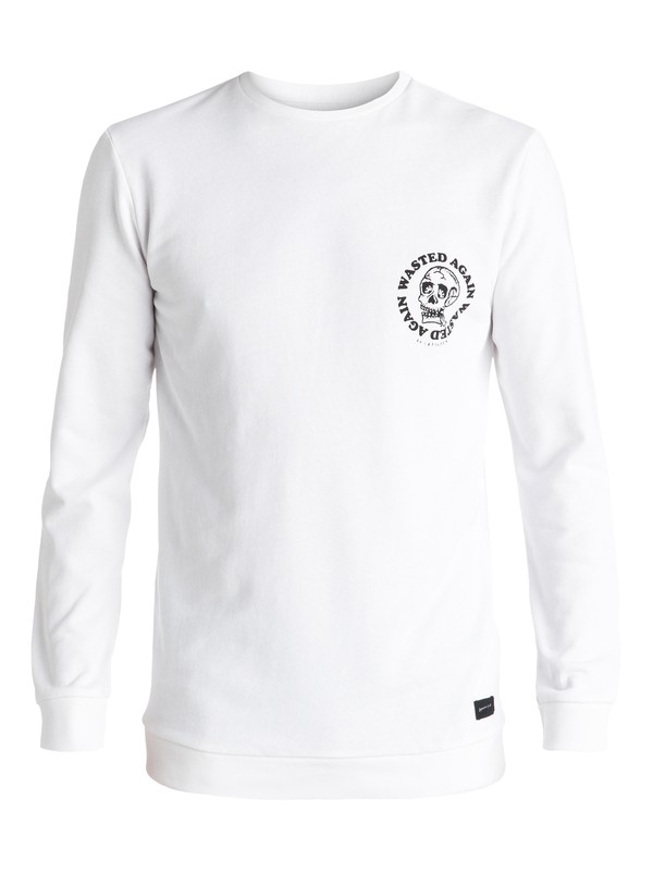 0 Wasting Time - Sweat Blanc EQYFT03446 Quiksilver