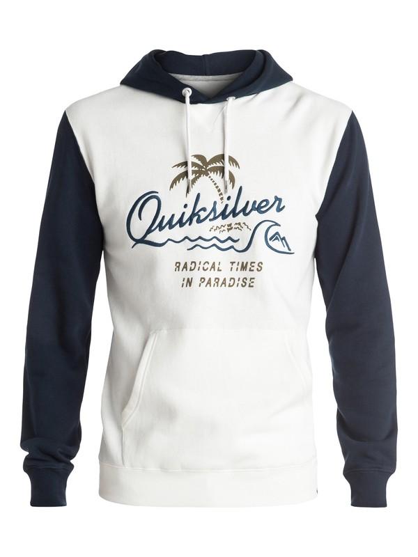 0 No Longer - Sweat à capuche Bleu EQYFT03448 Quiksilver