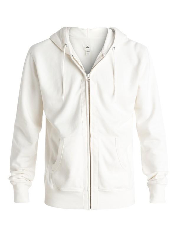 0 Quiksilver - Sweat à capuche zippé Blanc EQYFT03471 Quiksilver