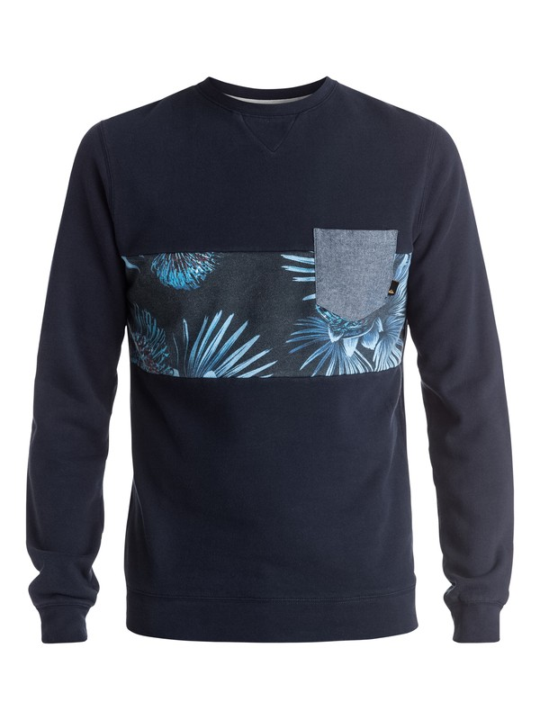 0 Strange Night - Sweat Bleu EQYFT03474 Quiksilver