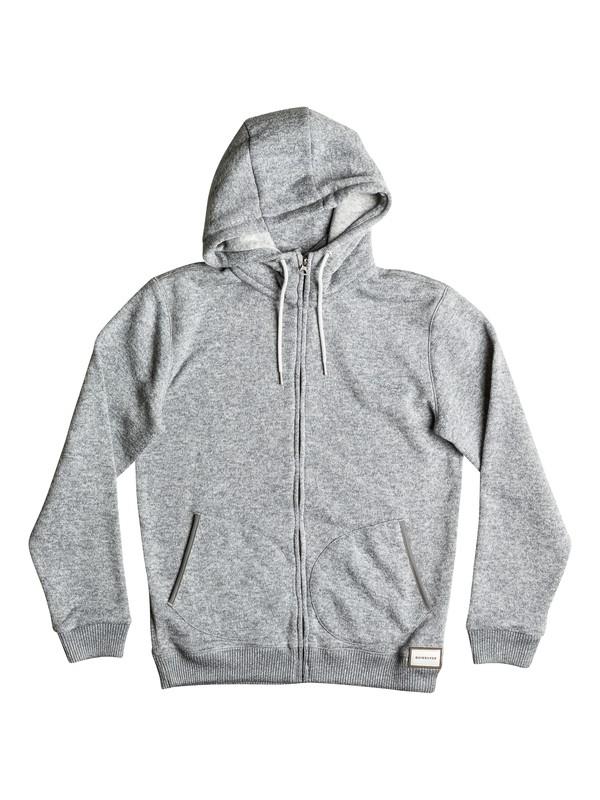 0 Keller - Sweat à capuche zippé Gris EQYFT03530 Quiksilver