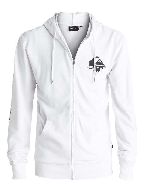 0 Double Take - Sweat à capuche zippé Blanc EQYFT03571 Quiksilver