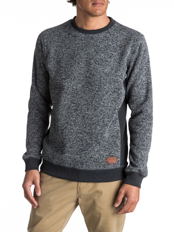 0 Keller - Polar Fleece Sweatshirt Black EQYFT03659 Quiksilver