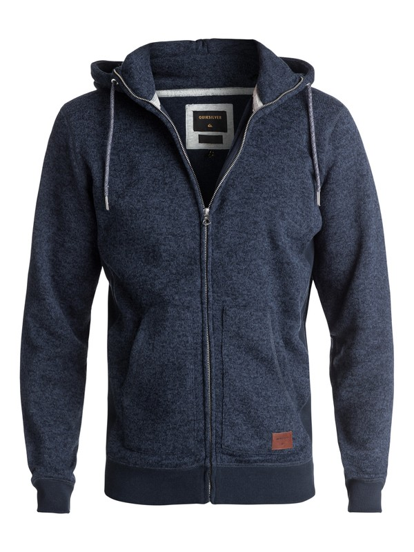 0 Keller Zip-Up Polar Fleece Hoodie Blue EQYFT03661 Quiksilver