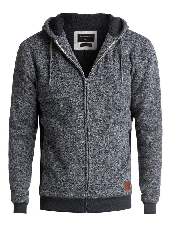 0 Keller Sherpa - Sweat à capuche zippé en polaire Noir EQYFT03662 Quiksilver