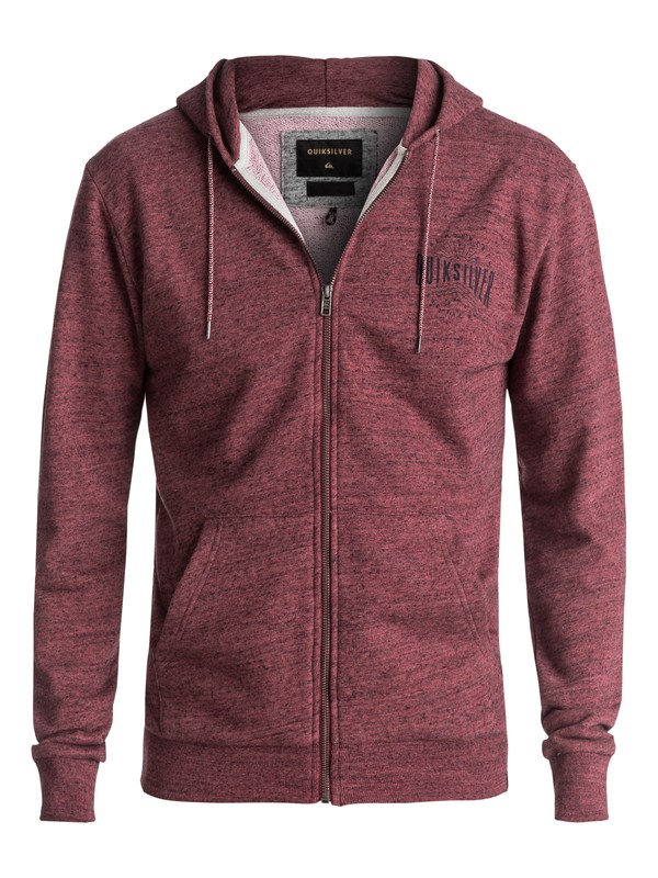 0 Jungle Forest Zip-Up Hoodie Red EQYFT03684 Quiksilver