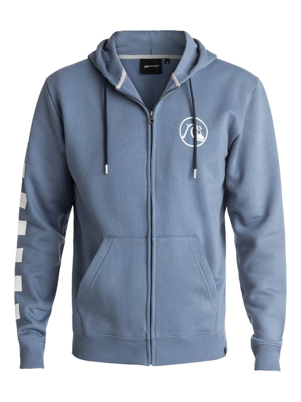 0 Men's Quik Check Zipped Hoodie Blue EQYFT03715 Quiksilver