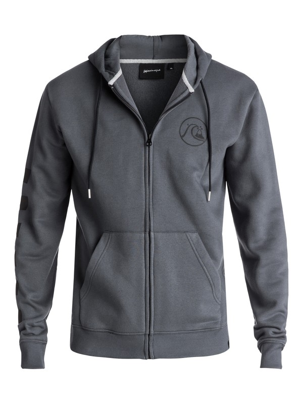 0 Men's Quik Check Zipped Hoodie Black EQYFT03715 Quiksilver