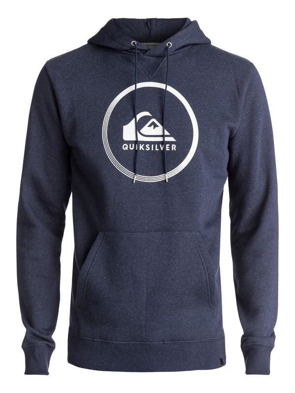0 Big Logo - Sweat à capuche Bleu EQYFT03717 Quiksilver