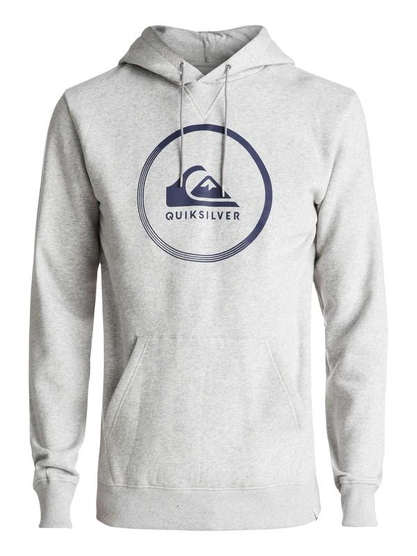 0 Big Logo - Sweat à capuche Gris EQYFT03717 Quiksilver