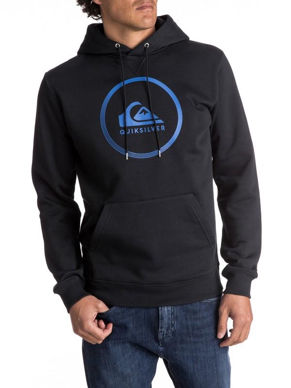 0 Big Logo - Sweat à capuche Noir EQYFT03717 Quiksilver