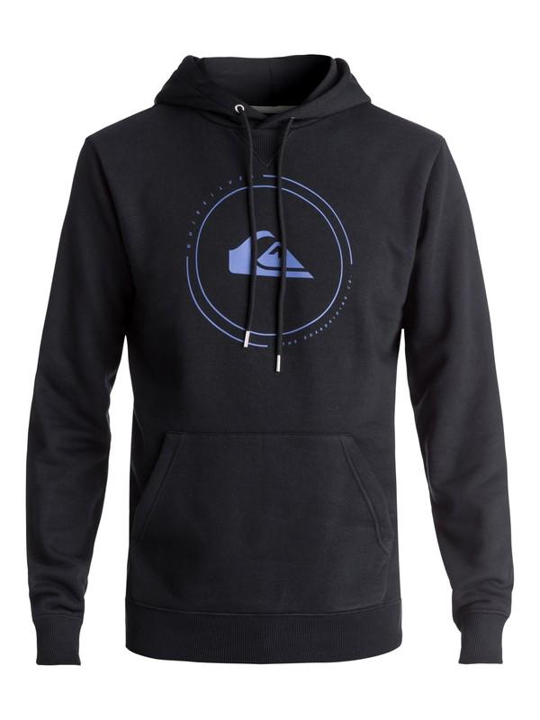 0 Men's Big Logo Hoodie Black EQYFT03726 Quiksilver
