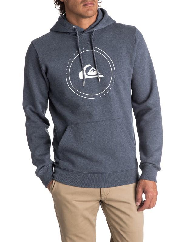 0 Men's Big Logo Hoodie Blue EQYFT03726 Quiksilver