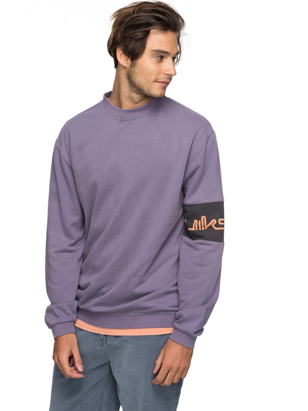 0 Wave Slide Sweatshirt Purple EQYFT03751 Quiksilver