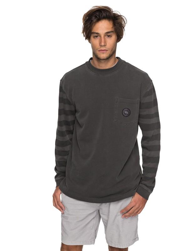 0 Wave Runner Sweatshirt Black EQYFT03752 Quiksilver