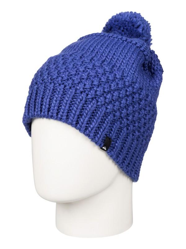 0 Planter - Bonnet à pompon Bleu EQYHA03032 Quiksilver
