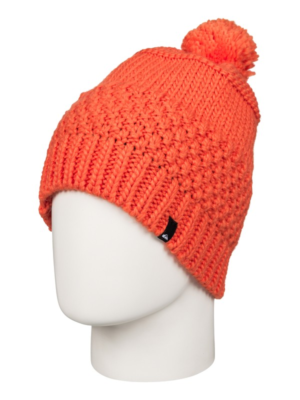 0 Planter - Bonnet à pompon Orange EQYHA03032 Quiksilver