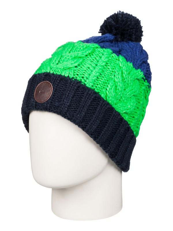 0 Apex - Bonnet à pompon Bleu EQYHA03033 Quiksilver