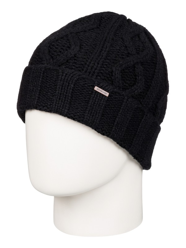 0 Merlu - Bonnet à revers Noir EQYHA03040 Quiksilver