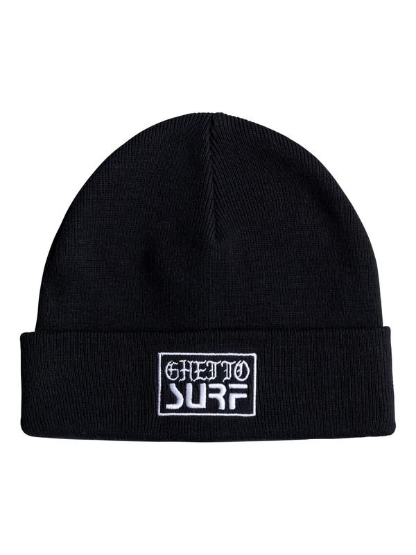 0 Ghetto Surf Beanie Black EQYHA03086 Quiksilver