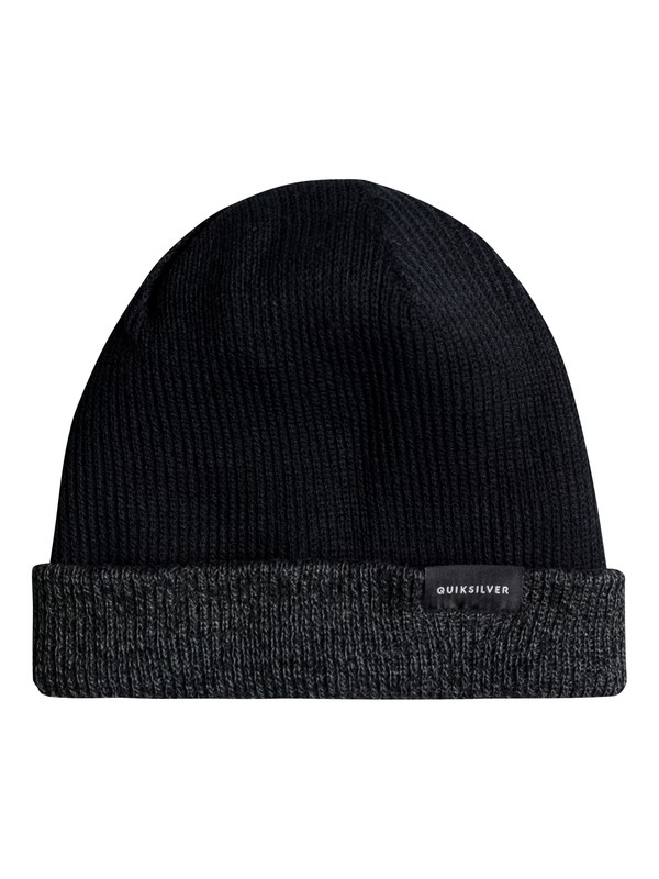 0 Performed Color Block Reversible Beanie Black EQYHA03097 Quiksilver