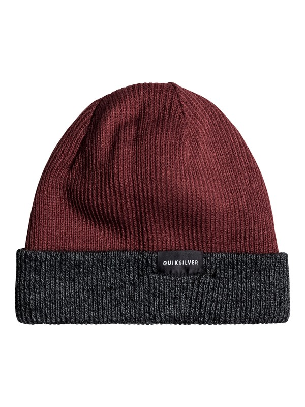 0 Performed Color Block Reversible Beanie Red EQYHA03097 Quiksilver