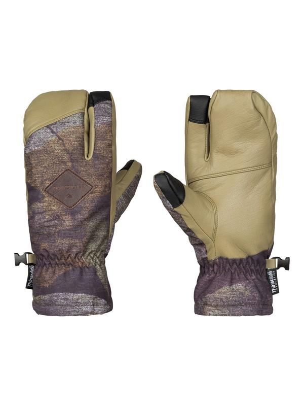 0 Trigger - Moufles de snow à trois doigts Marron EQYHN03061 Quiksilver