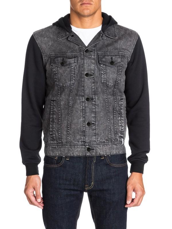 0 Deadwater Black Enzyme - Veste en jeans  EQYJK03080 Quiksilver