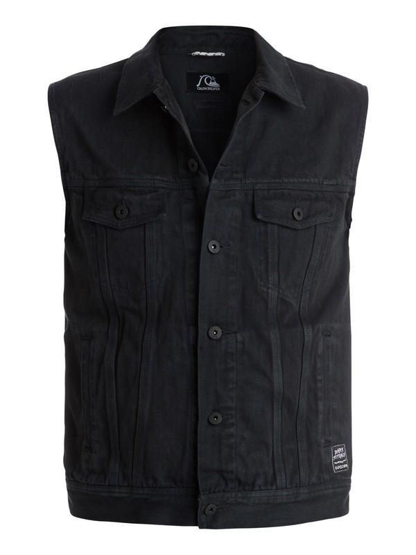 0 Hooligans And Whisky Sleeveless Denim Jacket  EQYJK03135 Quiksilver