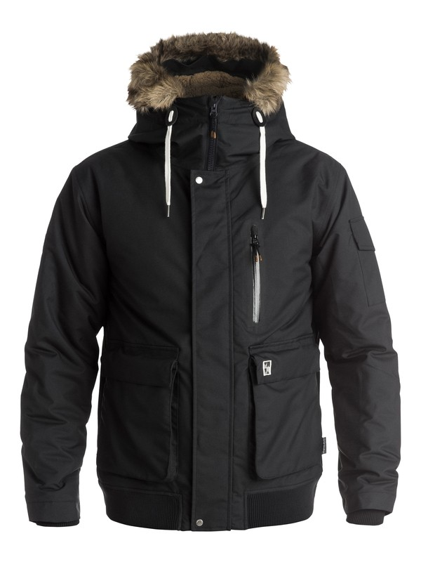 0 Arris - Manteau technique Noir EQYJK03216 Quiksilver