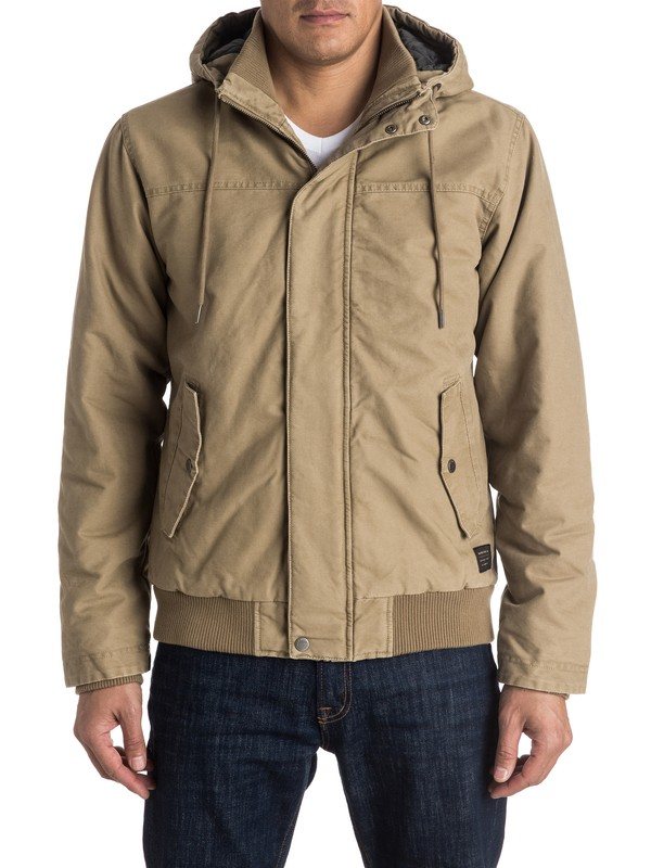 0 Everyday Brooks Jacket Beige EQYJK03231 Quiksilver