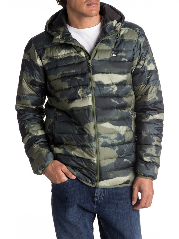0 Everyday Scaly - Steppjacke mit Kapuze Grün EQYJK03234 Quiksilver