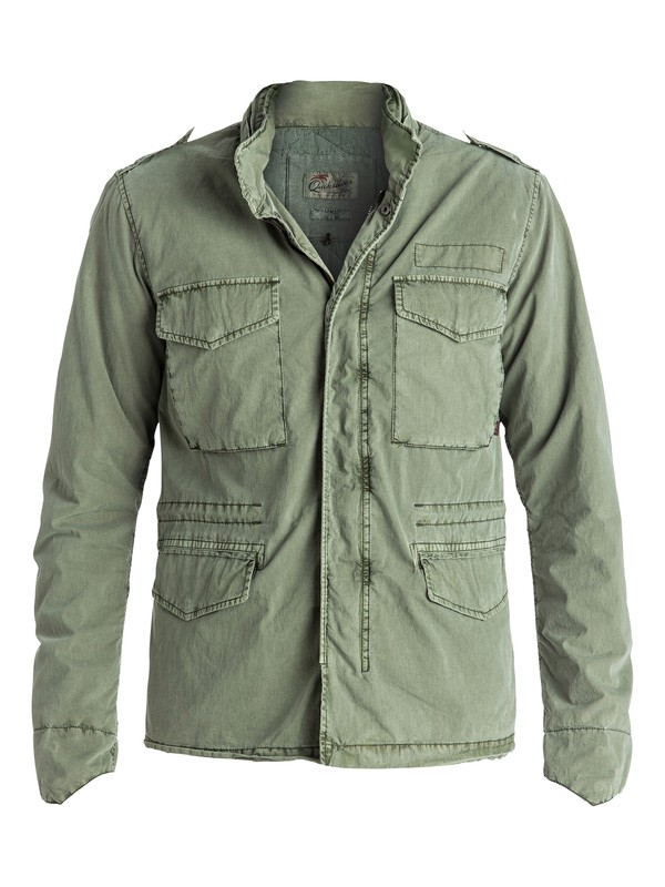 0 Frazer Hillz - Summer Field Jacket Green EQYJK03286 Quiksilver