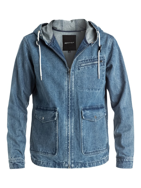 0 Surf Modern Originals - Veste en jean capuche Bleu EQYJK03307 Quiksilver