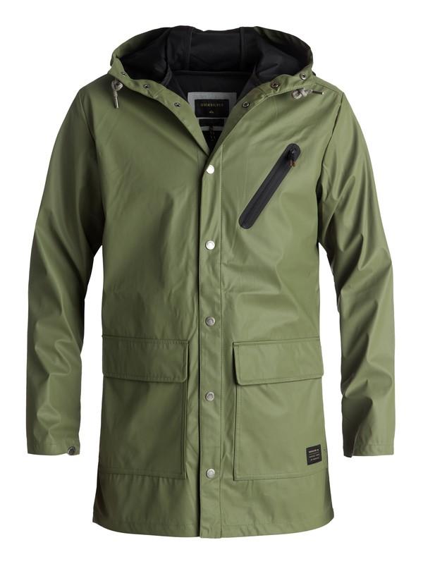 0 Travers Deep Long Rain Jacket Green EQYJK03309 Quiksilver