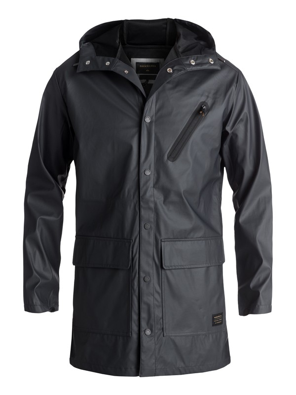 0 Travers Deep Long Rain Jacket Black EQYJK03309 Quiksilver