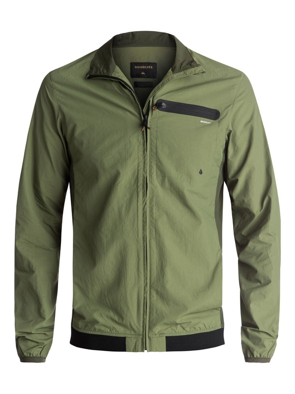 0 Arroyo Athleisure Jacket Green EQYJK03312 Quiksilver