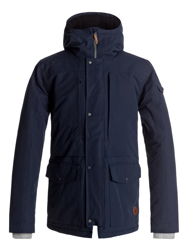 0 Canyon - Waterproof Hooded Jacket Blue EQYJK03334 Quiksilver