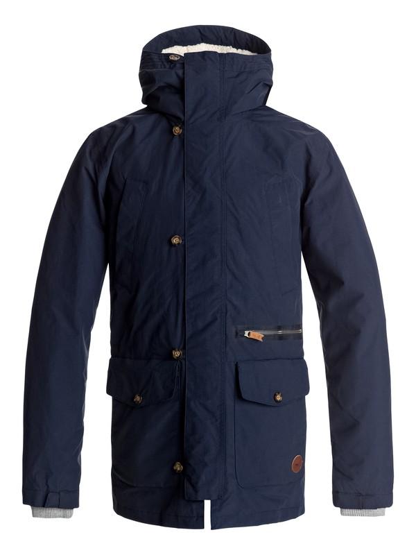 0 Sedona Waterproof 3-In-1 Parka Jacket Blue EQYJK03335 Quiksilver
