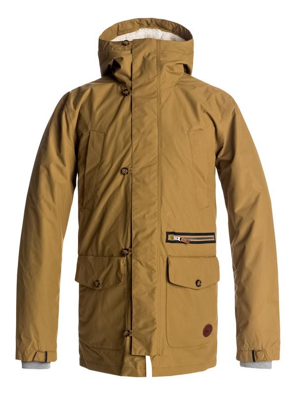 0 Sedona Waterproof 3-In-1 Parka Jacket Brown EQYJK03335 Quiksilver
