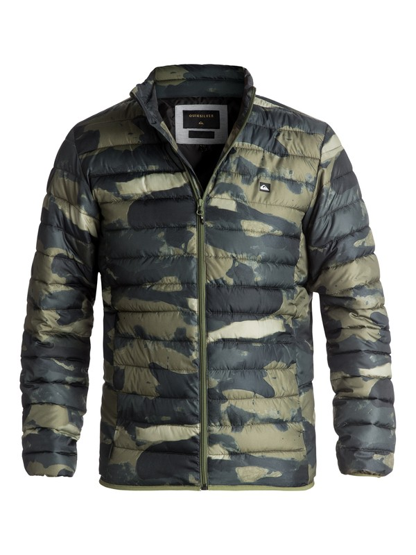 0 Scaly Full Water-Repellent Puffer Jacket Green EQYJK03342 Quiksilver