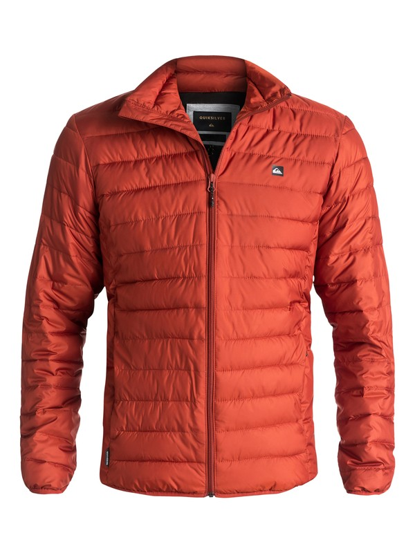 0 Scaly Full Water-Repellent Puffer Jacket Red EQYJK03342 Quiksilver