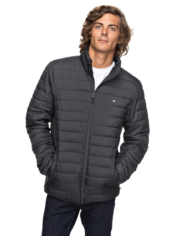 0 Scaly Full Water-Repellent Puffer Jacket Black EQYJK03342 Quiksilver