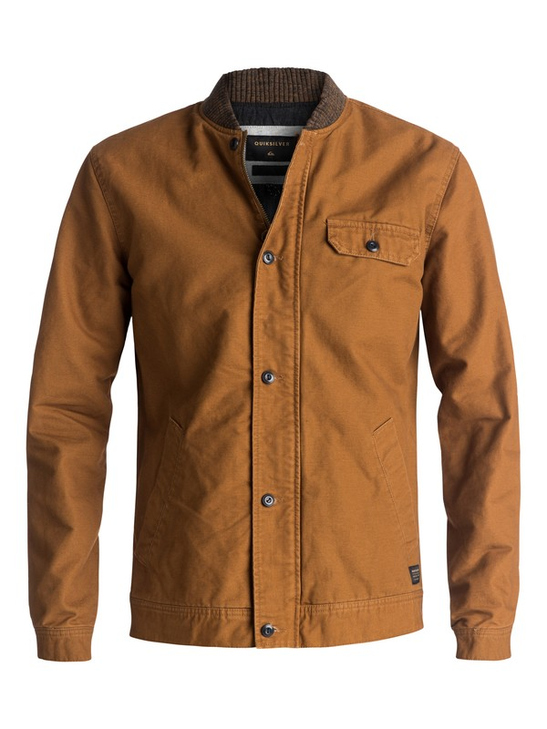 0 Lu Meah Workwear Jacket Brown EQYJK03344 Quiksilver
