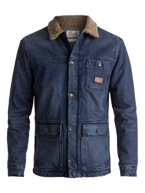 0 Hata Longa Denim Deck Jacket Blue EQYJK03347 Quiksilver