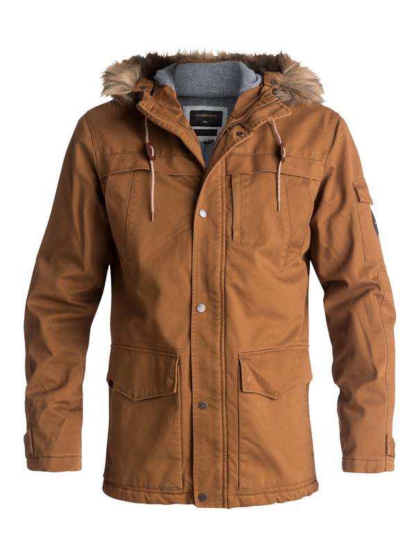 0 Storm Drop 5K Waterproof Winter Parka Brown EQYJK03352 Quiksilver